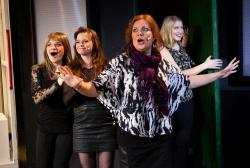 från vänster Malin Karlsson, Stina Nordberg, Annelie Roswall, Ingrid Zerpe. Foto Stig Hammarstedt