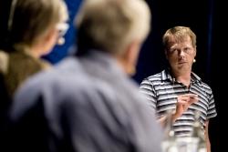 Christer Nylander, Folkpartiet - i en kulturpolitisk utfrågning på Länsteatern 6/7 Foto: Stig Hammarstedt