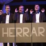"""Ensemblen i """"Bättre begagnat; Ulf Grönhagen, Lennart Bäck och Thomas Sundström. Foto: Stig Hammarstedt"""