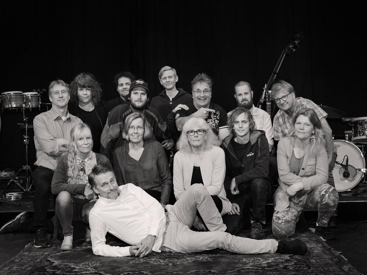 Länsteaterns personal. Fotograf: Anna Sundström